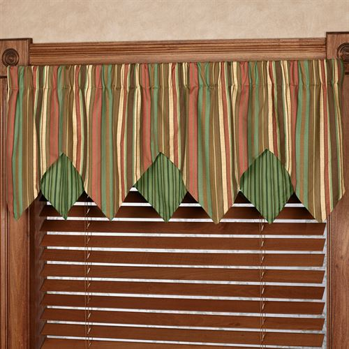 Riverpark Layered Ascot Valance Multi Warm 60 x 18