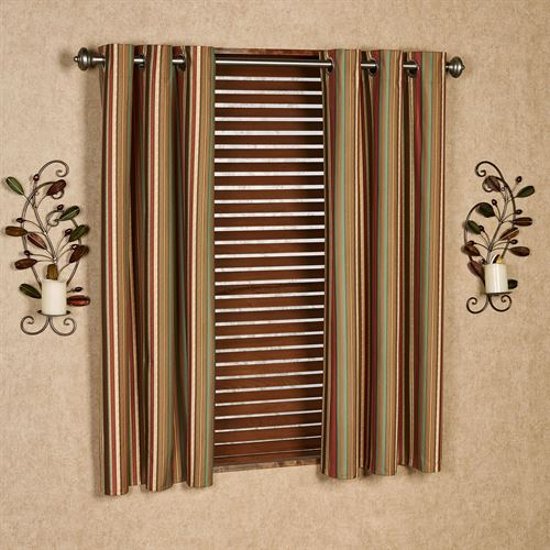 Riverpark Foam Backed Grommet Curtain Pair Multi Warm