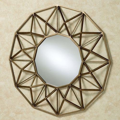 Octogone Wall Mirror Antique Gold