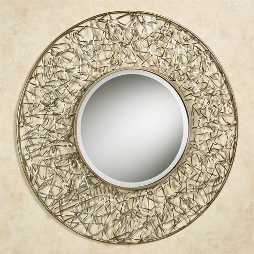 Sophisticate Mirrored Wall Sculpture Silver Gold