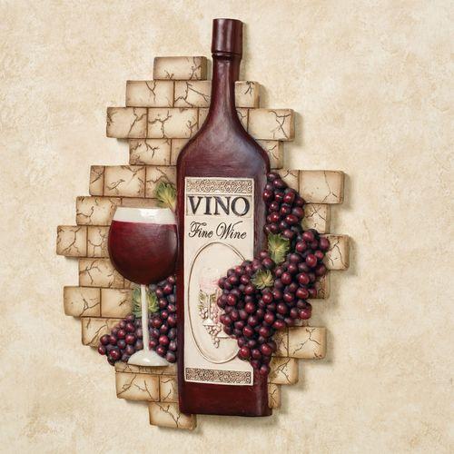 Vino Italiano Wall Plaque Multi Earth