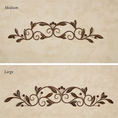 Catalonia Olive Decorative Wall Topper Brown