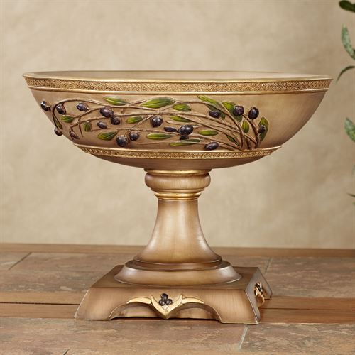 Vernazza Olives Centerpiece Bowl Tawny