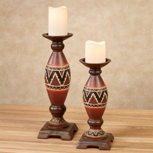 Abequa Candleholders Multi Earth Set of Two