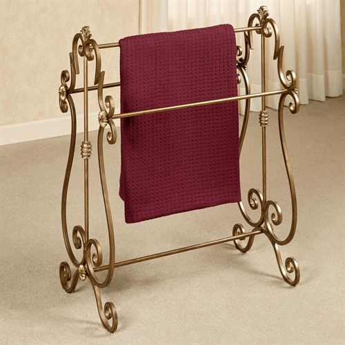 Esmeralda Blanket Rack Antique Gold