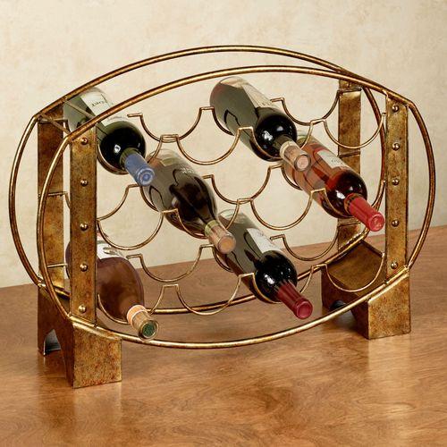 Ryana Wine Rack Dark Gold