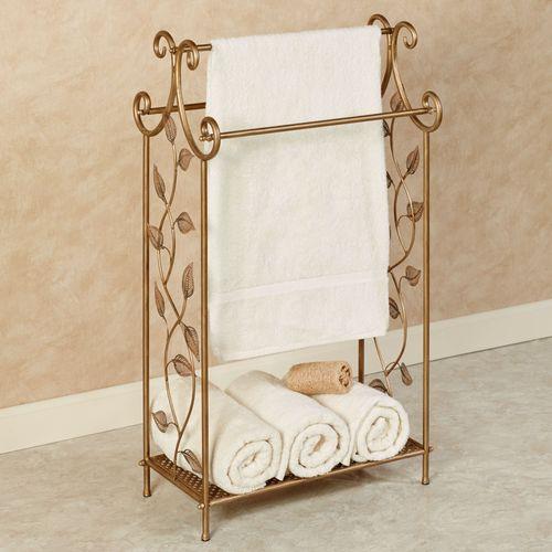 Eden Towel Stand Champagne Bronze