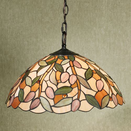 Pascal Stained Glass Hanging Lamp Multi Earth