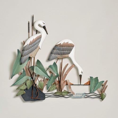 Heron Pair Wall Sculpture