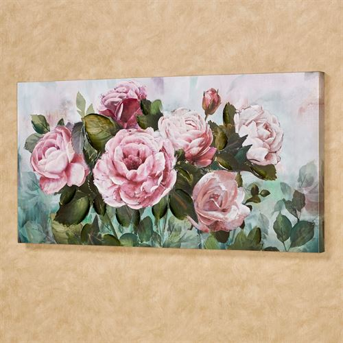 Floral Garden Canvas Wall Art Pink