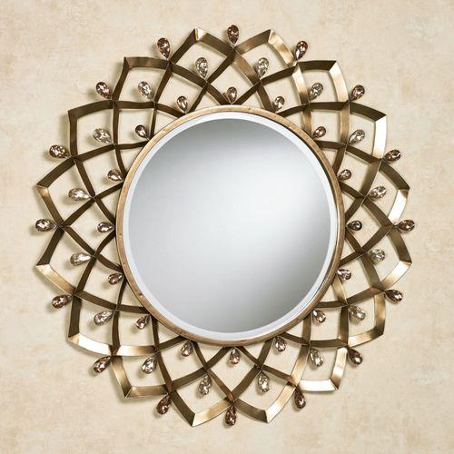 Madigan Round Wall Mirror Champagne Bronze