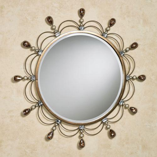 Brigette Round Wall Mirror Champagne Bronze