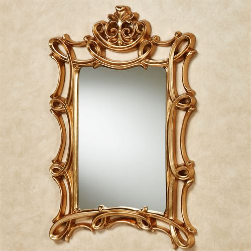 Scroll Elegance Wall Mirror Gold