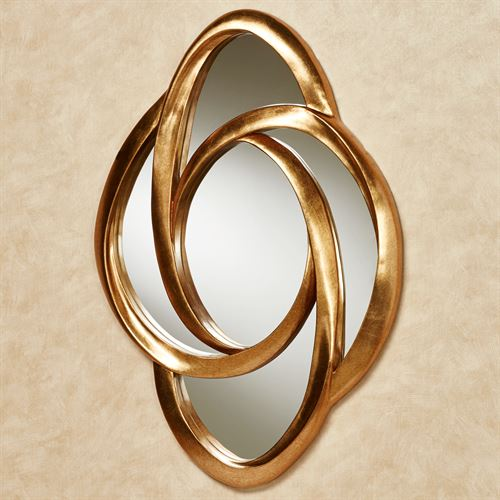 Endless Motion Wall Mirror Gold