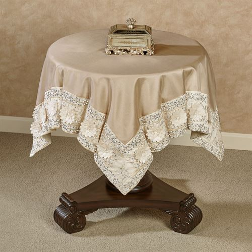 Elegante Table Topper Light Gold 42 Square