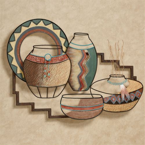 Native Artifacts Wall Sculpture Multi Earth