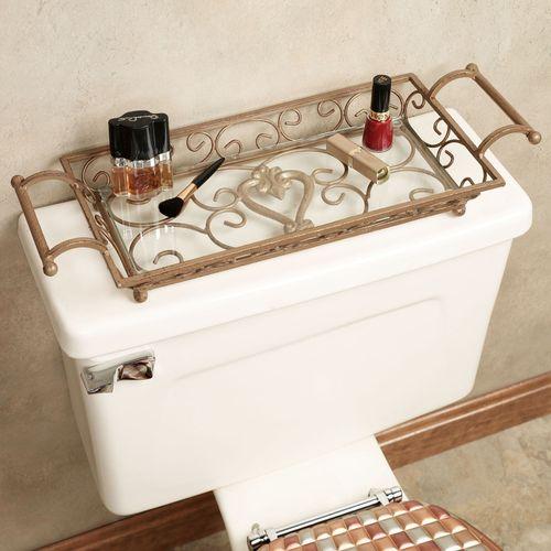 Aldabella Satin Gold Vanity Tray