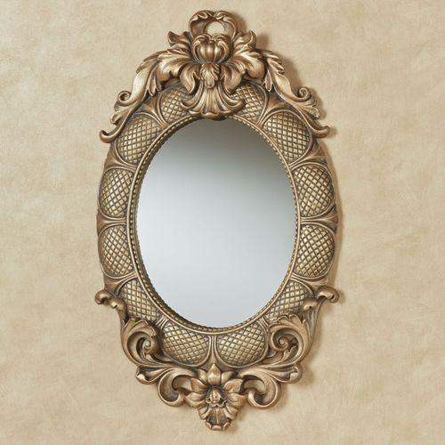 Calissa Oval Wall Mirror Satin Gold
