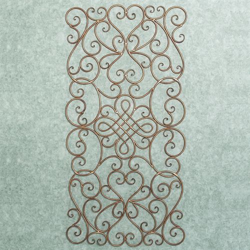 Santina Scrolling Wall Grille Satin Gold