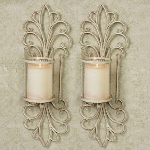 Simonetta Wall Sconces Creamy Gold Pair