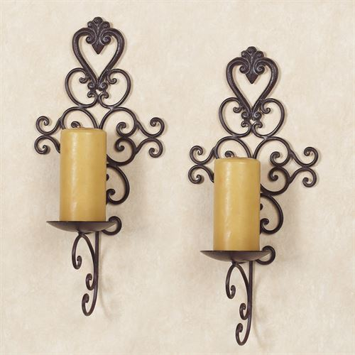 Aldabella Wall Candleholder Pair  Pair
