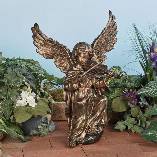 Angel Hymn Violin Sculptur