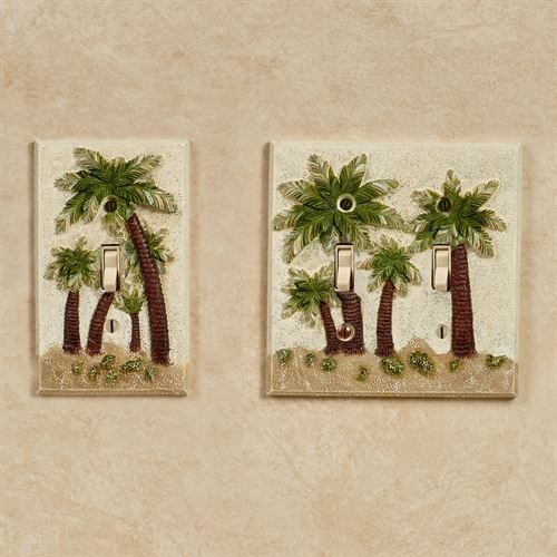 Palm Trees Single Switch Multi Earth