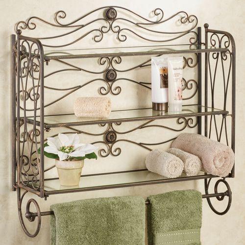 Kadalynn Wall Shelf with Towel Bar Antique Bronze