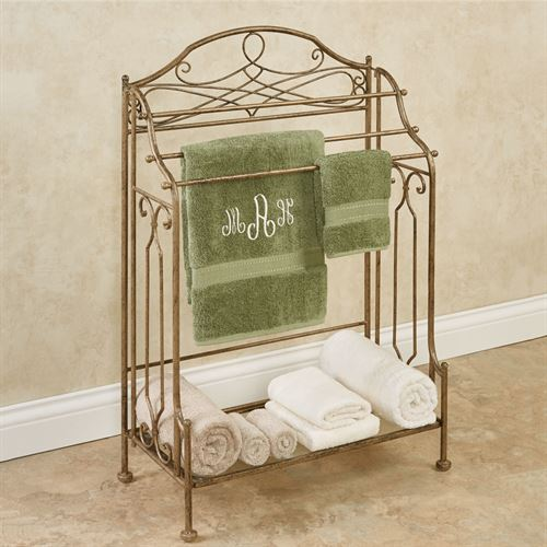 Abbianna Bath Towel Rack Antique Gold