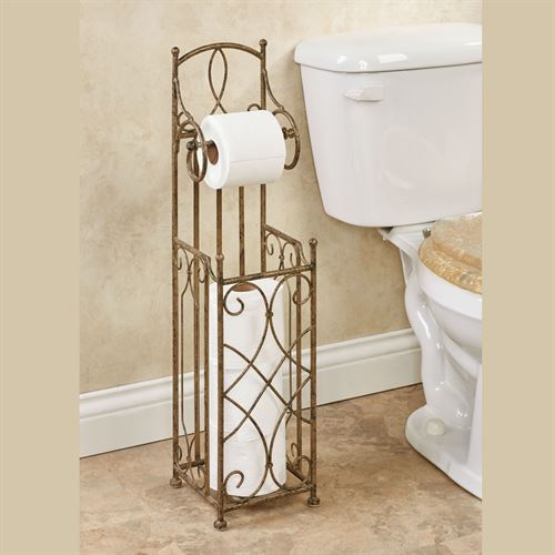 Abbianna Toilet Paper Stand Antique Gold