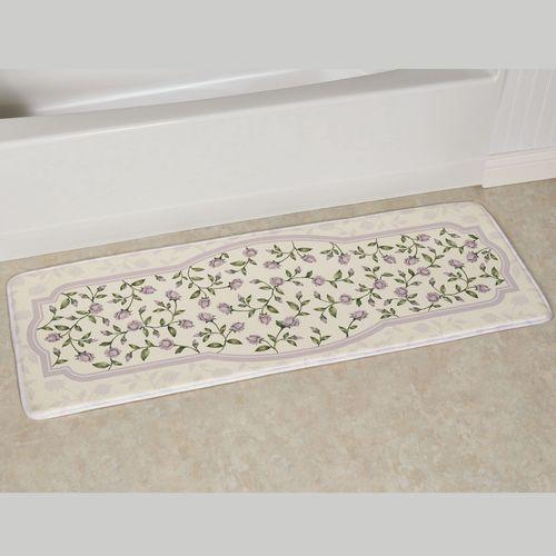 Enchanted Rose Cushioned Runner Mat Lavender 55 x 20