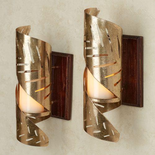 Golden Tropics Wall Sconce Pair