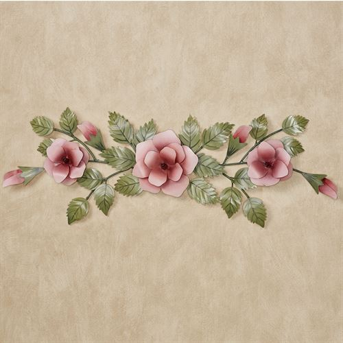 Rose Swag Wall Topper Pink