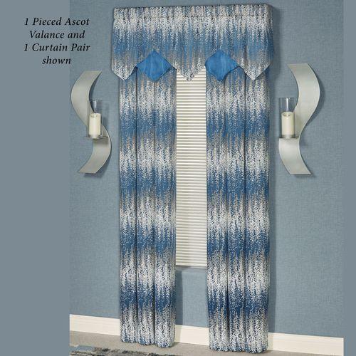 Seleca Pieced Ascot Valance Federal Blue 60 x 18