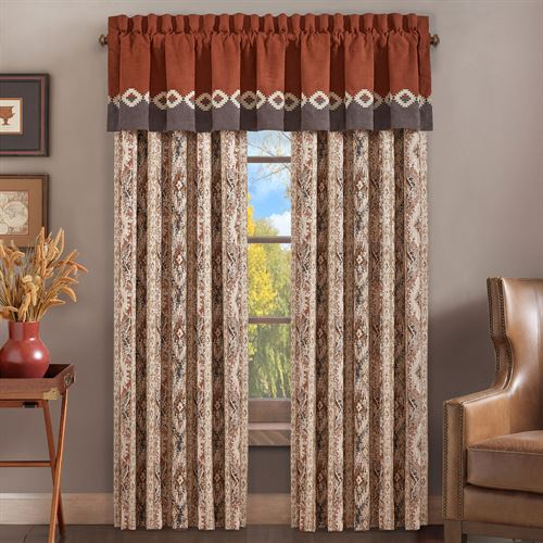 Bravefront Wide Tailored Curtain Pair Multi Warm 100 x 84