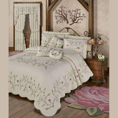 Posy Floral Grande Bedspread Natural