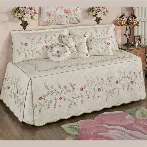 Posy Floral Daybed Set Natural Daybed