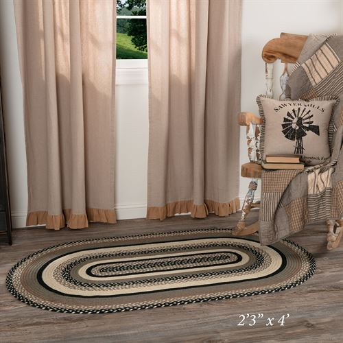 Sawyer Mill Oval Rug Multi Warm