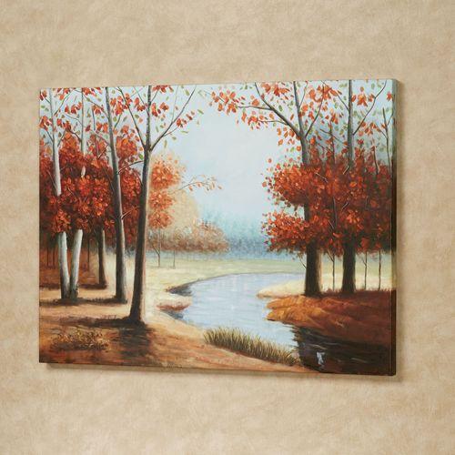 Woodland River Canvas Art Orange