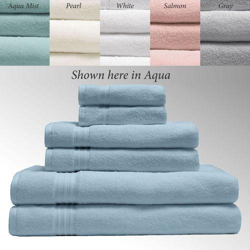 550 GSM Caress 6 Pc Organic Cotton Bath Towel Set