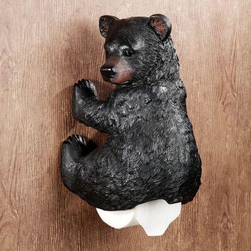 Stinkin Bear Toilet Paper Holder Black