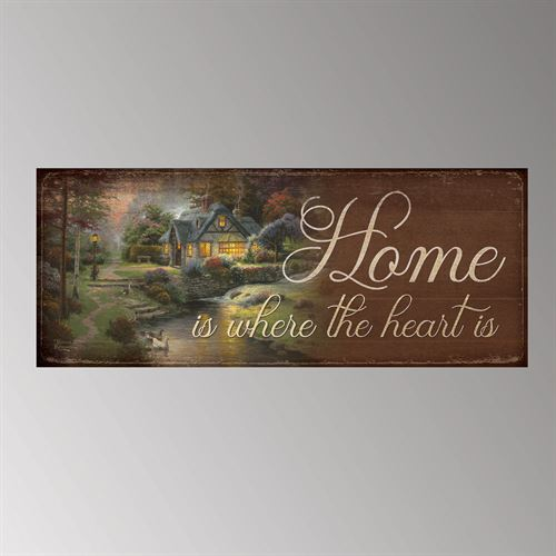 Home Is Where Wall Plaque Art Multi Warm