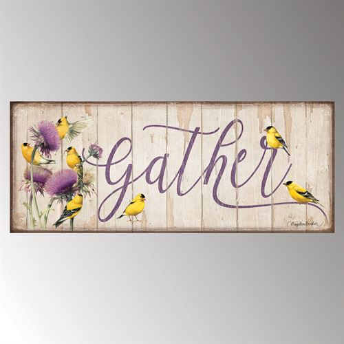 Gather Word Wall Plaque Art Multi Pastel