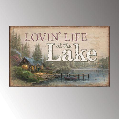 Lovin Life at the Lake Wall Plaque Art Multi Warm