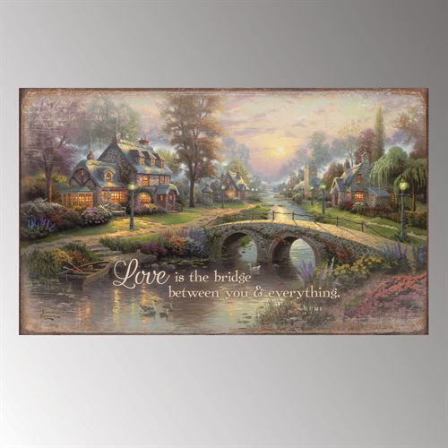 Love Is the Bridge Wall Plaque Art Multi Warm