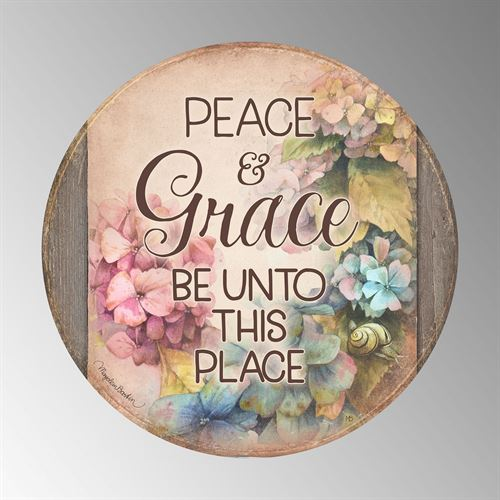 Peace and Grace Wall Plaque Art Multi Pastel