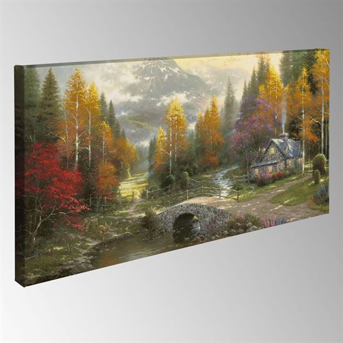 Valley of Peace Canvas Wall Art Multi Warm