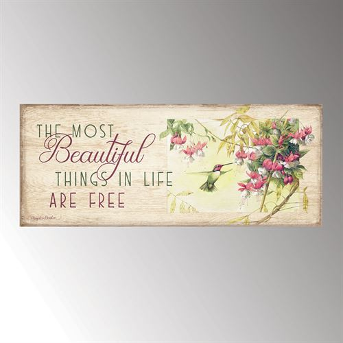 Most Beautiful Things Wall Plaque Art Multi Pastel