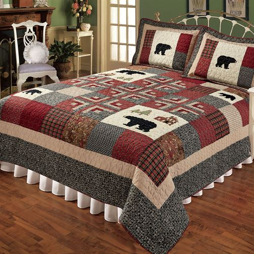 Cabin Fever Patchwork Quilt Multi Warm