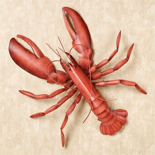 Lobster Fest Metal Wall Art Red